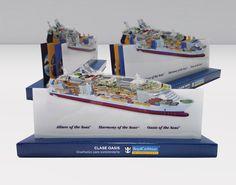 Diorama realizado en folding para la base y polipropileno para las piezas del barco