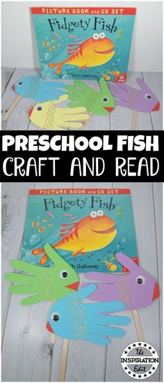 Fidgety Fish Puppet Craft And Learning Resource · The Inspiration Edit Fish Craft for preschool and kindergarten age kids. Fun fish activity. #fish #crafting #preschoolers #preschool #kidscraft #artsandcrafts #kltr #readwithkids #literacy #puppets #fishpuppets #literacy #kidsbooks #bookcrafts