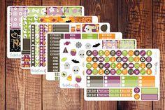 Halloween Planner Stickers//Bella Rose Paper Co #planneraddict #halloween #fall #planners