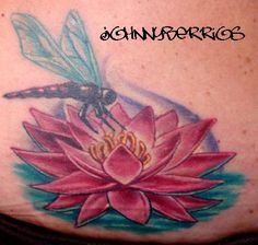 dragonfly lotus tattoo - Google Search