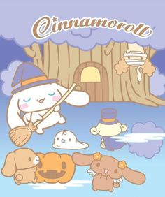 """Cinnamoroll """"Tricks or treats, no matter which one you had chosen, happy Halloween!"""" , as collected via Sanrio"""
