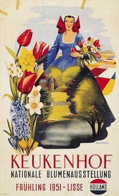 Hollande - Keukenhof - 1951 - (Guust Hens) -