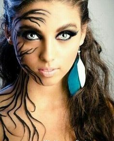 Beautiful Halloween Makeup Ideas -elke™ The Brow Collection Shop Beautiful Halloween Makeup, Creepy Halloween Makeup, Looks Halloween, Halloween Cosplay, Halloween Face, Halloween Costumes, Halloween Parties, Halloween Ideas, Halloween Nails