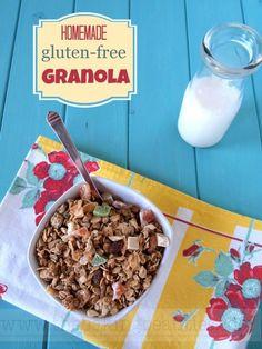 Make your own Homemade Gluten-free Granola from Faithfully Gluten Free