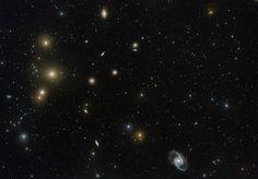 Espectacular imagen del cúmulo conocido como Fornax en el hemisferio sur de la constelación con el mismo nombre (ESO,2016)