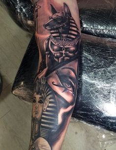 Creative Men's Egyptian Tattoo Half Sleeves