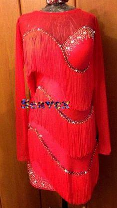 U5485 Fringing ballroom women salsa chacha Latin samba dance dress Custom made #seahunter