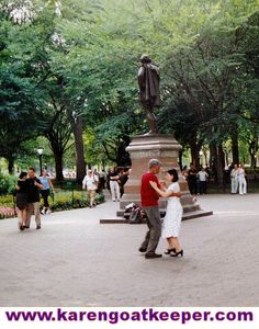 Grandfather took Hazel's mother out to tango in Central Park.