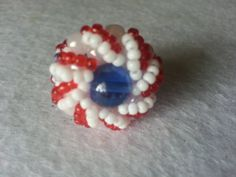Red White and Blue Swirl Ring