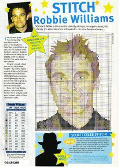 sandylandya@outlook.es Robbie Williams Cross Stitch Chart