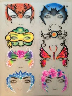 Designs by Sally Ann Lynch, these boards are perfect for practicing face…