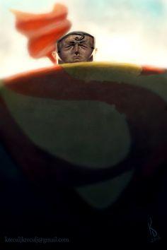 Superman Caricature