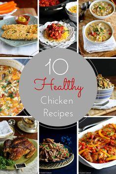10 Healthy Chicken Recipes...tried and true favorites! | cookincanuck.com #recipe