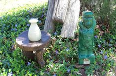 Tribal Decanter Green Mid Century Tequilla by AntiquesandVaria, $32.80