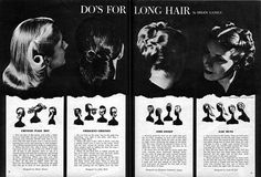 Vintage hairstyles for long hair - not sure if I'll still need this soon as I'm off to the hair dressers at the weekend but my hair is getting long Vintage Hairstyles For Long Hair, Hairdo For Long Hair, 1940s Hairstyles, Pin Up Hair, Hair Dos, My Hair, Glamorous Hairstyles, Wedding Hairstyles, Curly Hair
