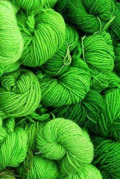 Green Knitting Wool ....