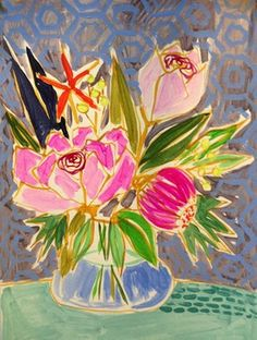 Flowers for Amandah Print - contemporary - artwork - Lulie Wallace Paintings I Love, Watercolor Paintings, Realistic Drawings, Art Drawings, Arte Floral, Contemporary Artwork, Flower Art, Cool Art, Canvas Art