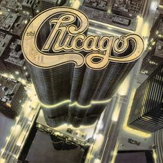 Very nice skyscraper typography for the album cover of Chicago 13 (1979)