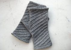 This pattern is available for free. These mitts make use of the same picot hem and spiral eyelet pattern as Knitty Gritty Thoughts' spiral cowl, but at a smaller gauge.   Note: these are top-down mitts -- they're knit from the fingers down, so you can adjust the length of the cuff for the amount of yarn you have to work with.
