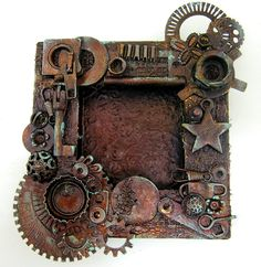 Steampunk diy 323485185734870687 - scrappin it: Altered Steampunk Wood Frame Source by DreadArtist Chat Steampunk, Style Steampunk, Steampunk Crafts, Steampunk Clock, Steampunk House, Steampunk Wedding, Mixed Media Canvas, Mixed Media Art, Steampunk Bedroom