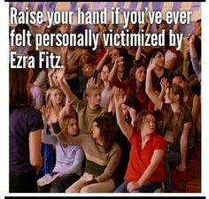 pretty little liars Ezra Fitz, I Have A Secret, Pretty Little Lairs, I'm Still Here, Mean Girls, Picture Quotes, I Laughed, Laughter, Funny Quotes