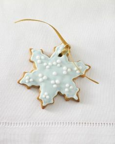 gingerbread snowflake ornament - My mom made these one year without the frosting in all different festive shapes.