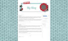 Blue Brick - Free Blog Background
