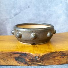 Round Bonsai Pot Handmade in Bronze effect . Stoneware Bonsai | Etsy Different Textures, Bonsai, Stoneware, Bronze, Pottery, Handmade, Etsy, Ceramica, Hand Made