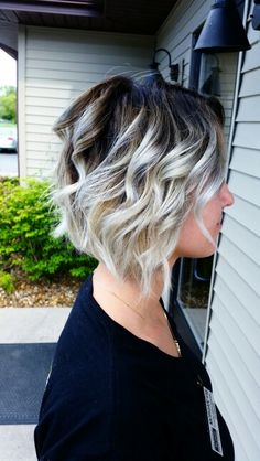 Icy blonde, with stretched root