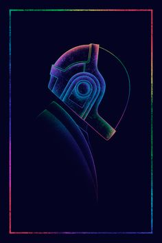 """spaceman-art: """"DP3 - Spectrum (Thomas & Guy) Gauntlet Gallery's 3rd annual Daft Punk inspired art exhibition. Prints AVAILABLE HERE """""""