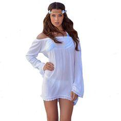 The Summer Daze Mini Dress is the perfect beach cover up! #ootd #LadyLuxSwimwear #LiveLux #fashion #bikinis #LuxBabe  #LadyLux #designerswimwear