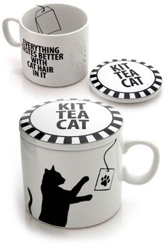 """""""Everything Tastes Better With Cat Hair In It"""" mug. There's 18 more mugs to enjoy."""
