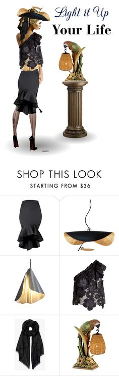 """""""Ways to Light"""" by melange-art ❤ liked on Polyvore featuring Radiance, self-portrait, Ted Baker and Kathy Ireland"""