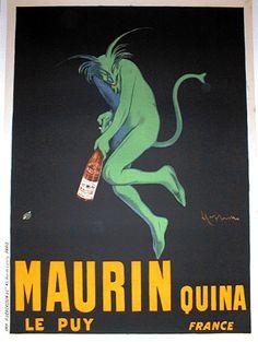 Vintage French Liquor Framed Posters
