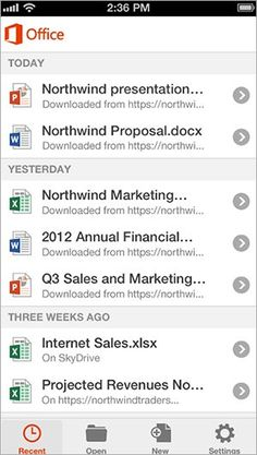 Microsoft Releases Office App for iPhone #technology #gadgets #geek #tech