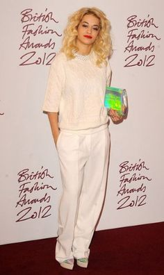 Winter White.  British Fashion Awards 2012: Stylish guests on the red carpet - Fashion Galleries - Telegraph