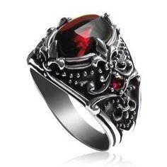 Men's Sterling Silver Vintage Artichoke Gemstone Ring on Yoyoon.com. Make every day valentine's day!