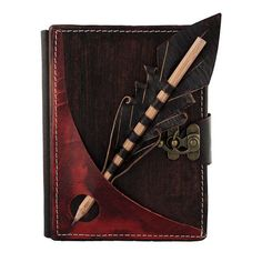 Pencil Holding Section On A Brown Leather by ALittlePresent
