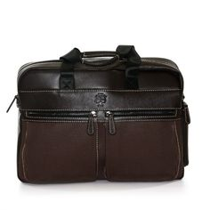 A slim, smart, on-trend briefcase with room for both a laptop and a tablet, designed for the casual, career-conscious man or woman. Laptop Backpack, Laptop Bags, Leather Laptop Bag, Things To Buy, Stuff To Buy, Computer Bags, Briefcase, Fashion Backpack, Brown Leather