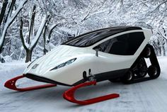 Closed-Cabin Skidoos  This Snowmobile by Michal Bonikowski Increases Speed and Comfort