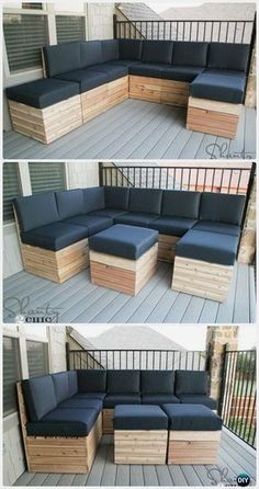 DIY Modular Outdoor Seating Free Plan Instructions - DIY Outdoor Patio Furniture Ideas #furnitureplans #WoodworkingDIY