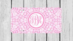 Personalized Monogrammed Floral Lace Pink Flowers by TopCraftCase