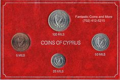 1974 Coins Of Cyprus Four (4) Uncirculated Coin Mint Set http://www.ebay.com/itm/1974-Coins-Of-Cyprus-Four-4-Uncirculated-Coin-Mint-Set-/171529562950?ssPageName=STRK:MESCX:IT