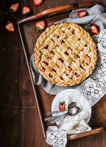 Mansikka-raparperipiirakka   K-Ruoka Margarita, Waffles, Pie, Sweets, Baking, Breakfast, Desserts, Drinks, Food