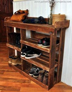 Now let's discuss what is so special in the wood pallet repurposed shoe rack? The very first and important aspect is the cost effectiveness of the shipping pallets. We just have to bear no expenses.