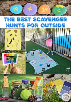 The Best Scavenger Hunts for Outside - How Wee Learn Creative Activities For Kids, Gross Motor Activities, Outdoor Activities For Kids, Kids Learning Activities, Autumn Activities, Toddler Activities, Summer Activities, Preschool Science, Backyard Scavenger Hunts