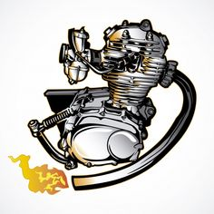 Automotive Duel, The most exclusive motorcycle and car engine war articles Yamaha Xt 500, Dt Yamaha, Motorcycle Tattoos, Motorcycle Logo, Honda Cb 100, Moto Logo, Yamaha Rx100, Bike Drawing, Black Phone Wallpaper