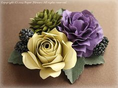 Roses and carnations of paper flower corsage