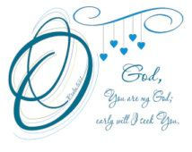 O God, You are my God, PDF Instant Download, Digital File, Psalm 63:1, Bible Verse Art,Typography Doodles, Abstract Art, Facebook Blue, Lime
