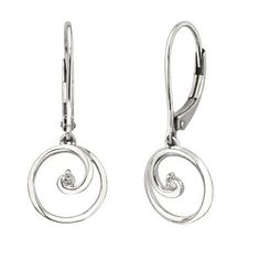 Circle of Love™ Diamond Dangle Earrings in Sterling Silver available at #HelzbergDiamonds